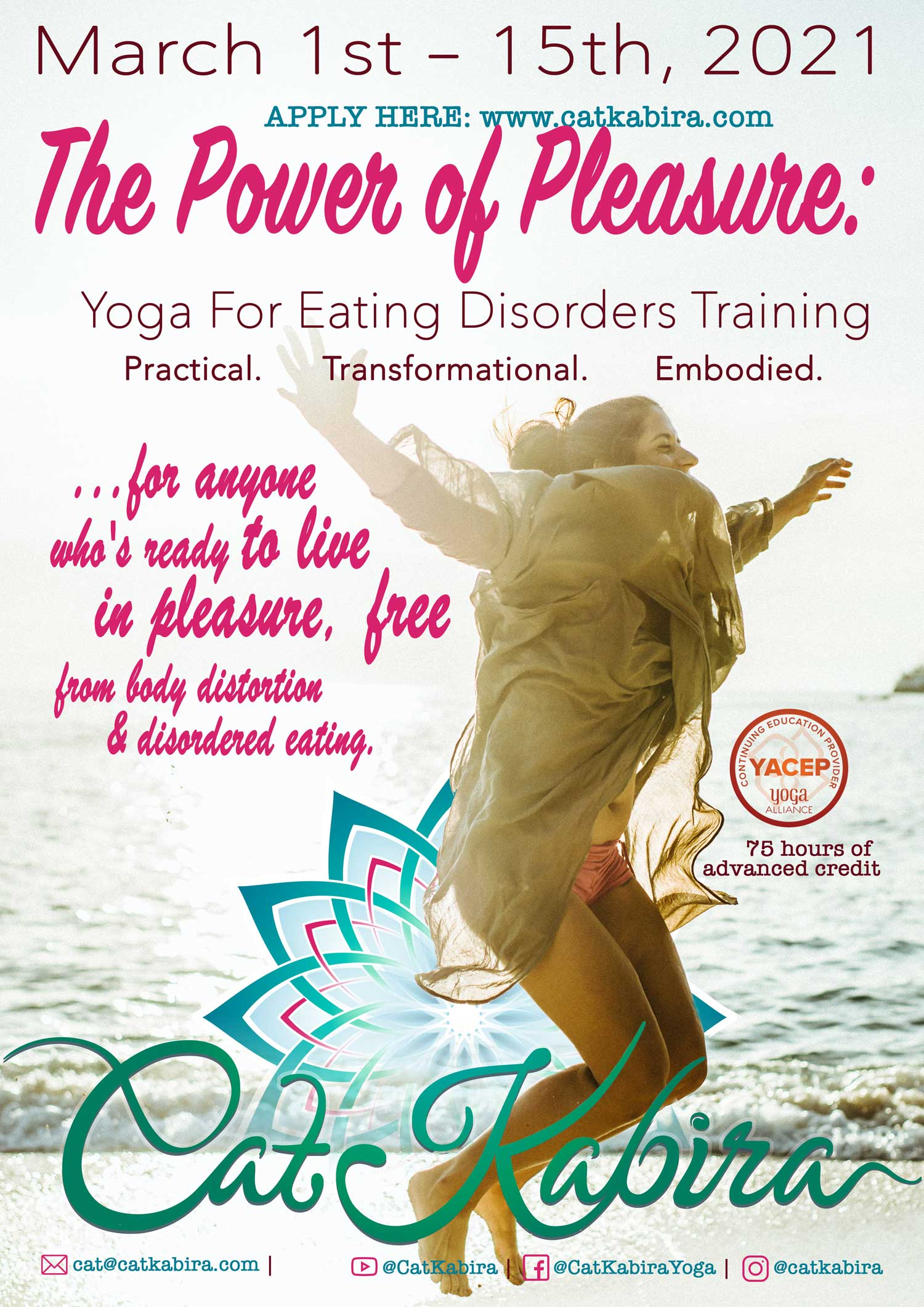 catkabira.com - The Power of Pleasure: Yoga for Eating Disorders In-Person Training, 2021